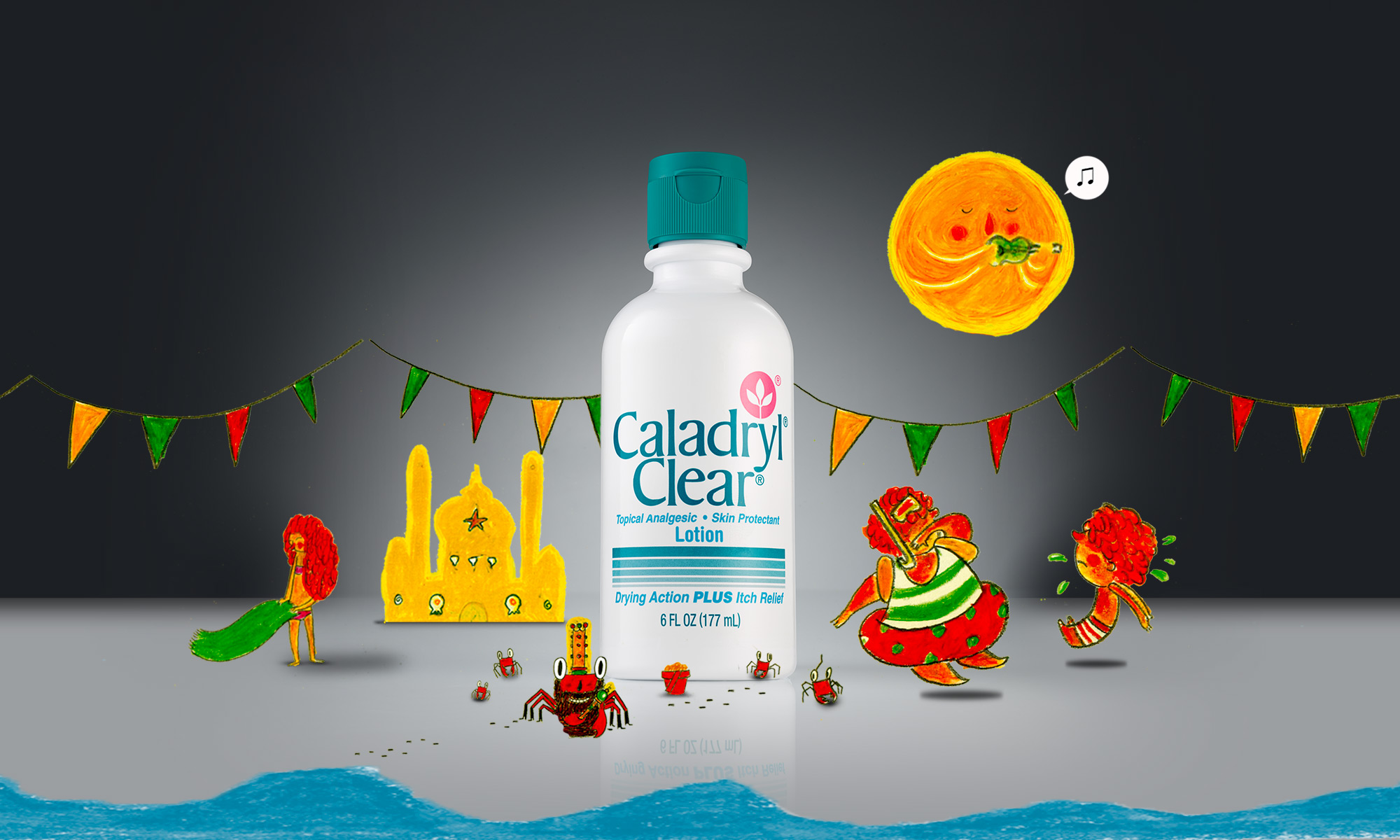 Caladryl Stories TV Spot, Illustrationsand Website